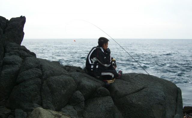我慢の釣り