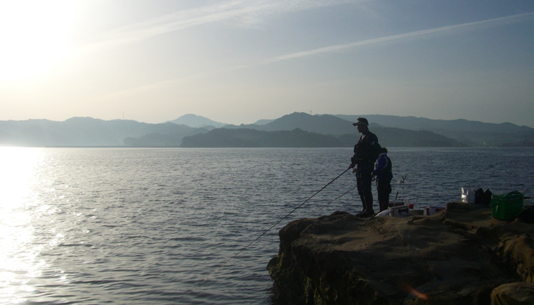 朝まずめのチヌ釣り