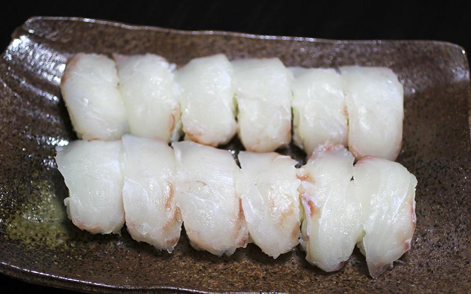 ヒラメのにぎり寿司