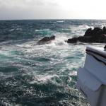 大時化の古志岐三礁(ラクダ瀬)に落としたクーラー