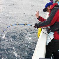 初釣りは、シーズン終盤の落とし込み釣り