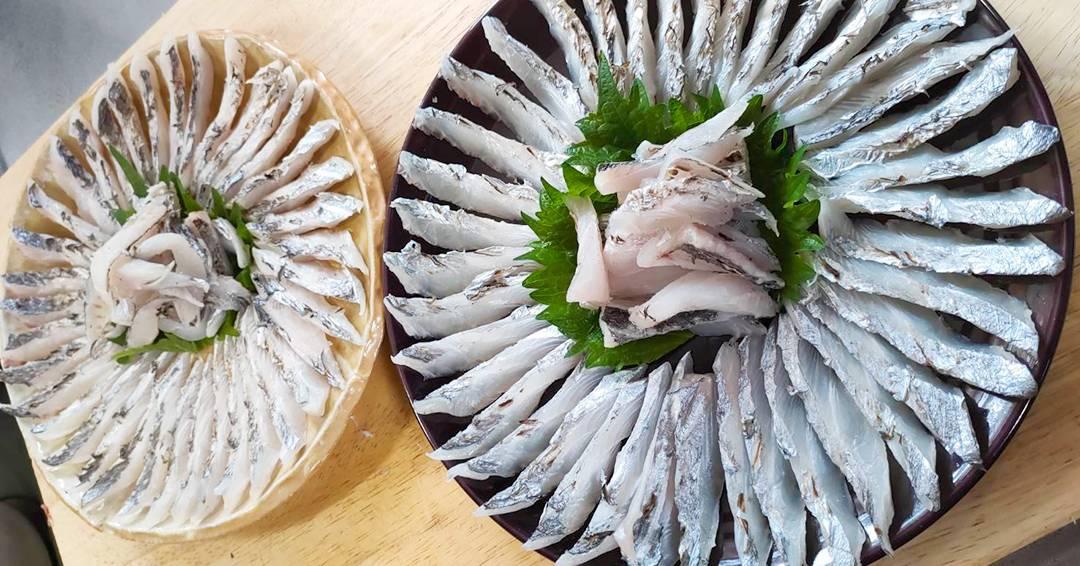 太刀魚の炙り刺し