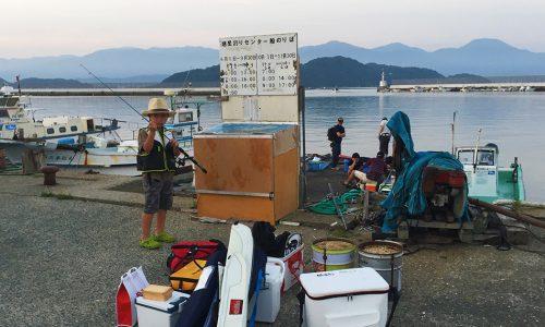 岐志の筏で、ファミリーフィッシング+夏チヌ