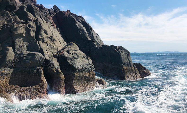 シーズン前のクロ釣り調査、古志岐三礁(スベリ)